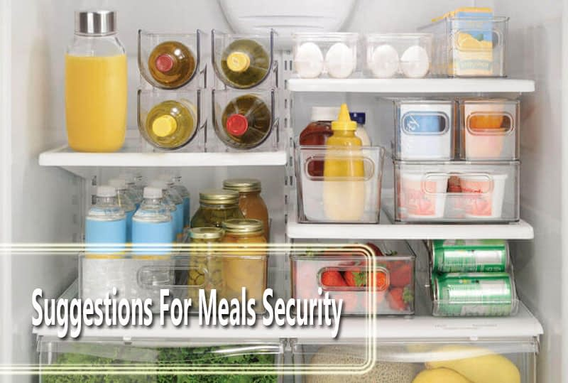 Suggestions For Meals Security
