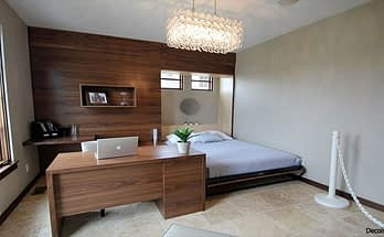 Contemporary Property Solutions for an Office-Guest Bedroom Combo!
